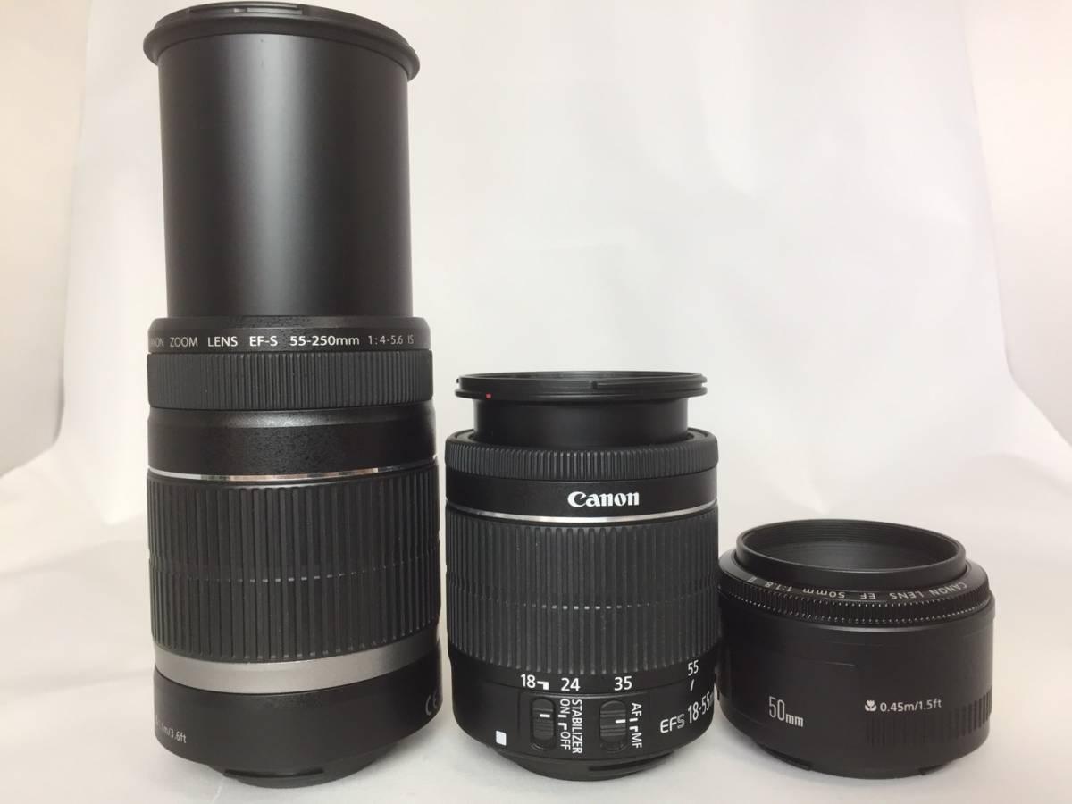 【新品級ボディ】Canon キャノン EOS Kiss X9i 単焦点 標準 望遠 トリプルレンズセット_画像3