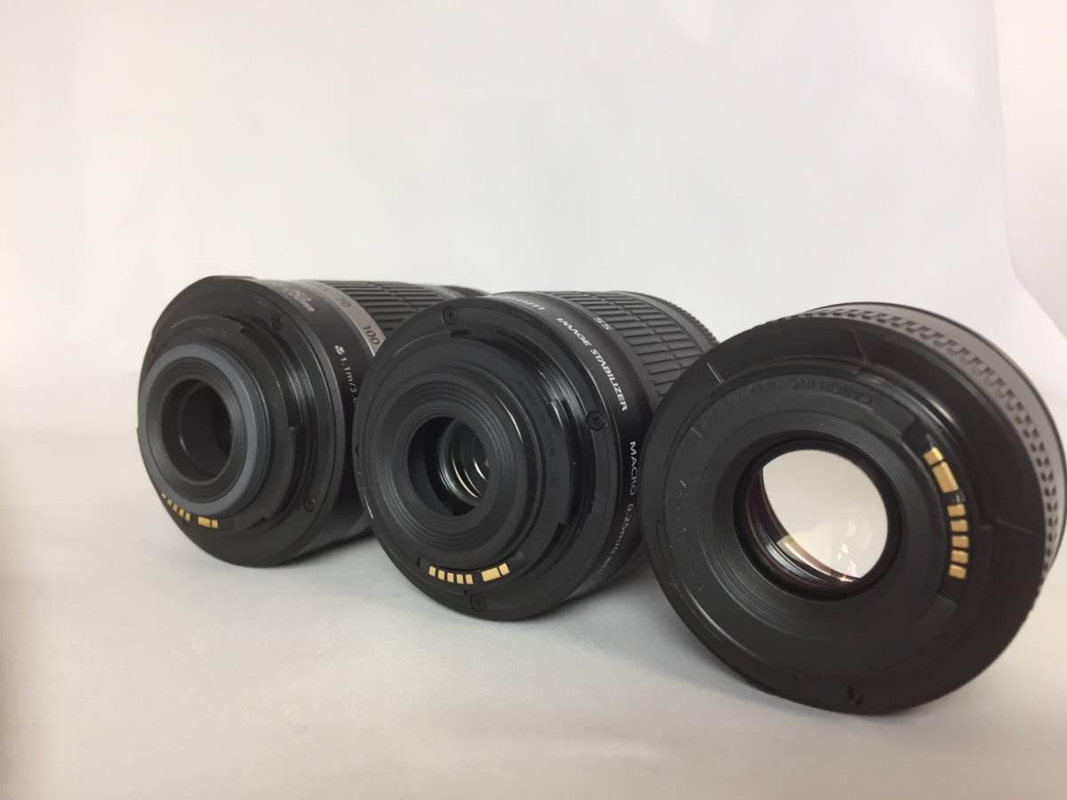 【新品級ボディ】Canon キャノン EOS Kiss X9i 単焦点 標準 望遠 トリプルレンズセット_画像5