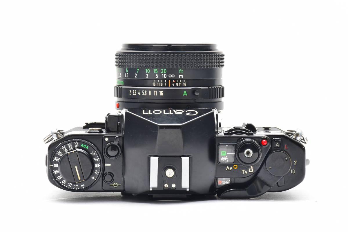 #101 ● Canon キヤノン A-1 + New FD 50mm F2 MF一眼レフ フイルムカメラ_画像3