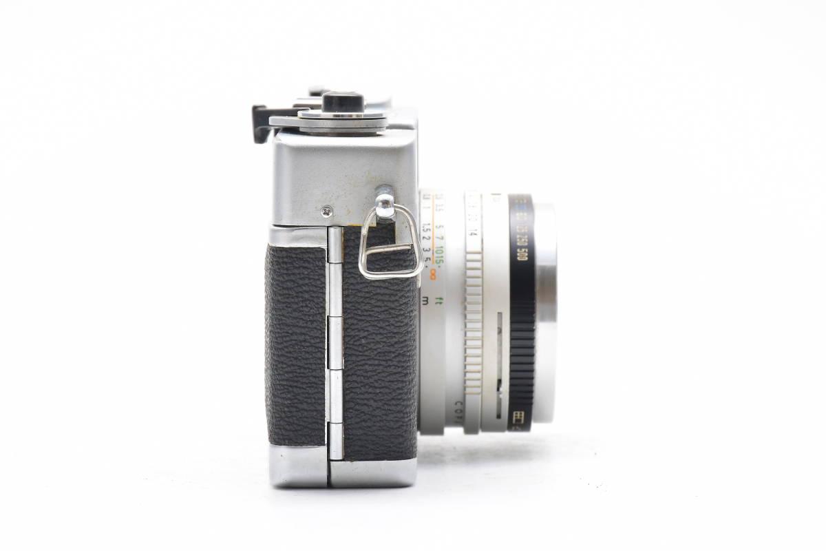 2AM306 ◆ Canon キヤノン Canonet QL17 G-III CANON LENS 40mm F1.7 単焦点 大口径 レンジファインダー_画像6