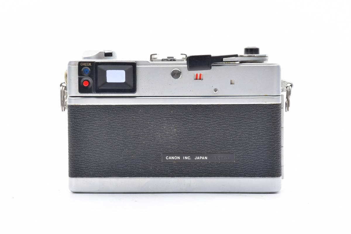 2AM306 ◆ Canon キヤノン Canonet QL17 G-III CANON LENS 40mm F1.7 単焦点 大口径 レンジファインダー_画像2