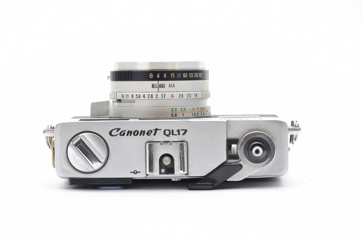 2AM306 ◆ Canon キヤノン Canonet QL17 G-III CANON LENS 40mm F1.7 単焦点 大口径 レンジファインダー_画像3
