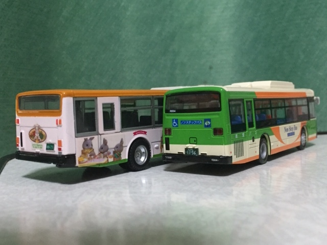 1/80 京商 ダイキャストバスシリ-ズ 都営バス 日野ブル-リボンⅡ 1/76 エムテック シルバニア・ラッピング バス 都営バス 2台セット_画像4