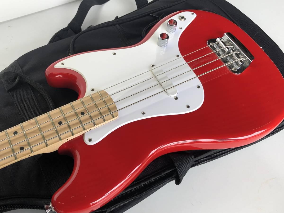 ◆Squier by Fender スクワイア フェンダー◆エレキベース BRONCO BASS ケース付 楽器 音楽機材_画像4