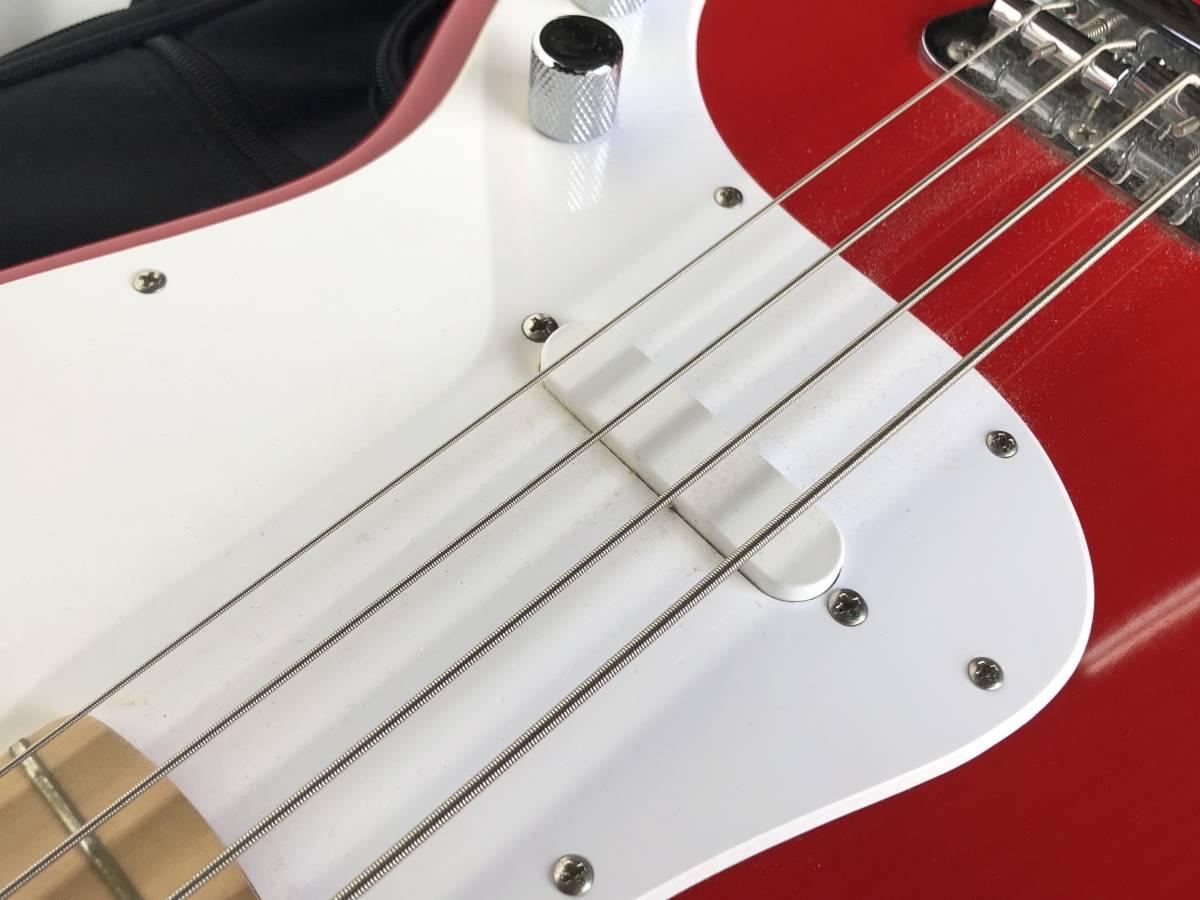 ◆Squier by Fender スクワイア フェンダー◆エレキベース BRONCO BASS ケース付 楽器 音楽機材_画像5