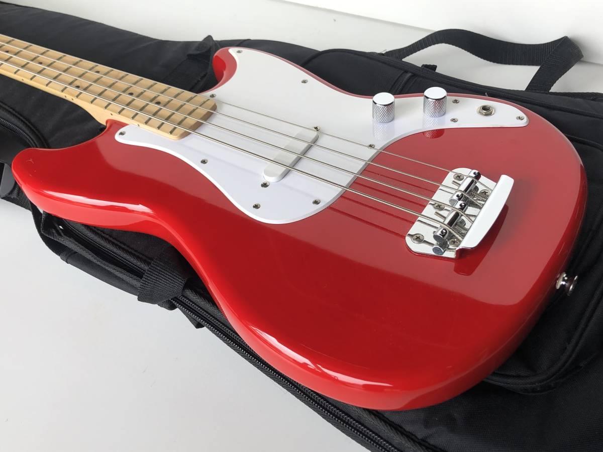 ◆Squier by Fender スクワイア フェンダー◆エレキベース BRONCO BASS ケース付 楽器 音楽機材_画像3