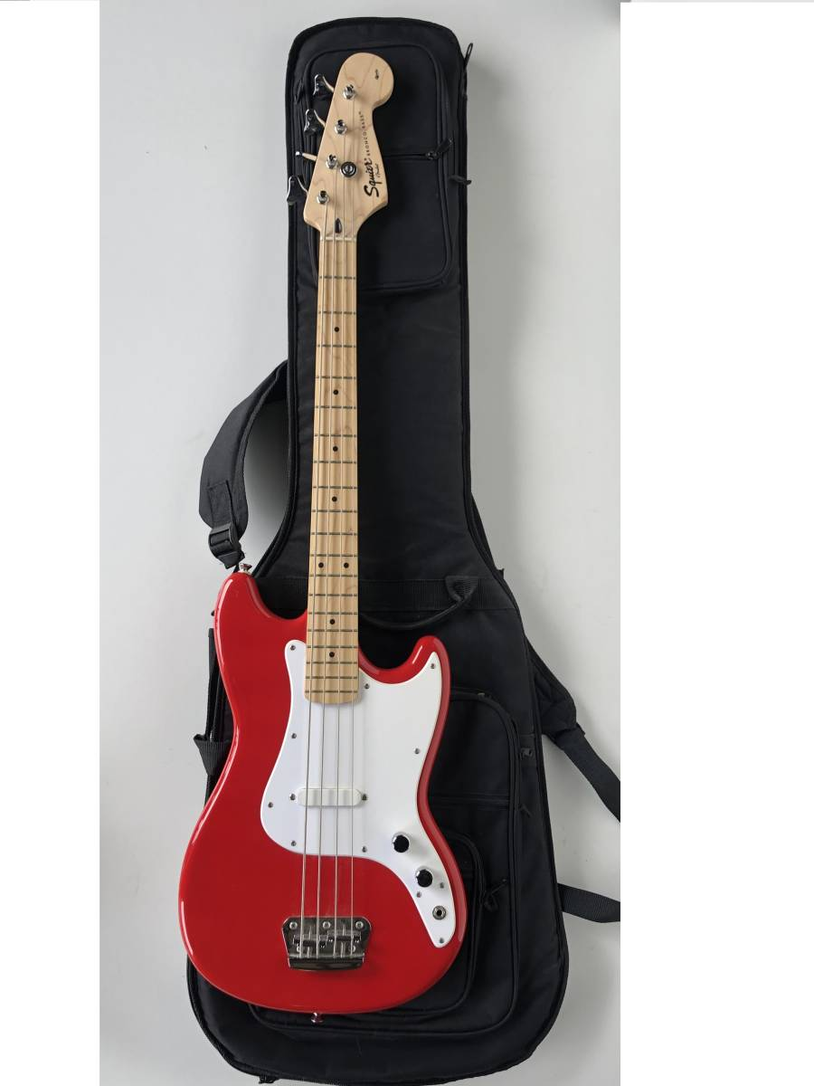 ◆Squier by Fender スクワイア フェンダー◆エレキベース BRONCO BASS ケース付 楽器 音楽機材