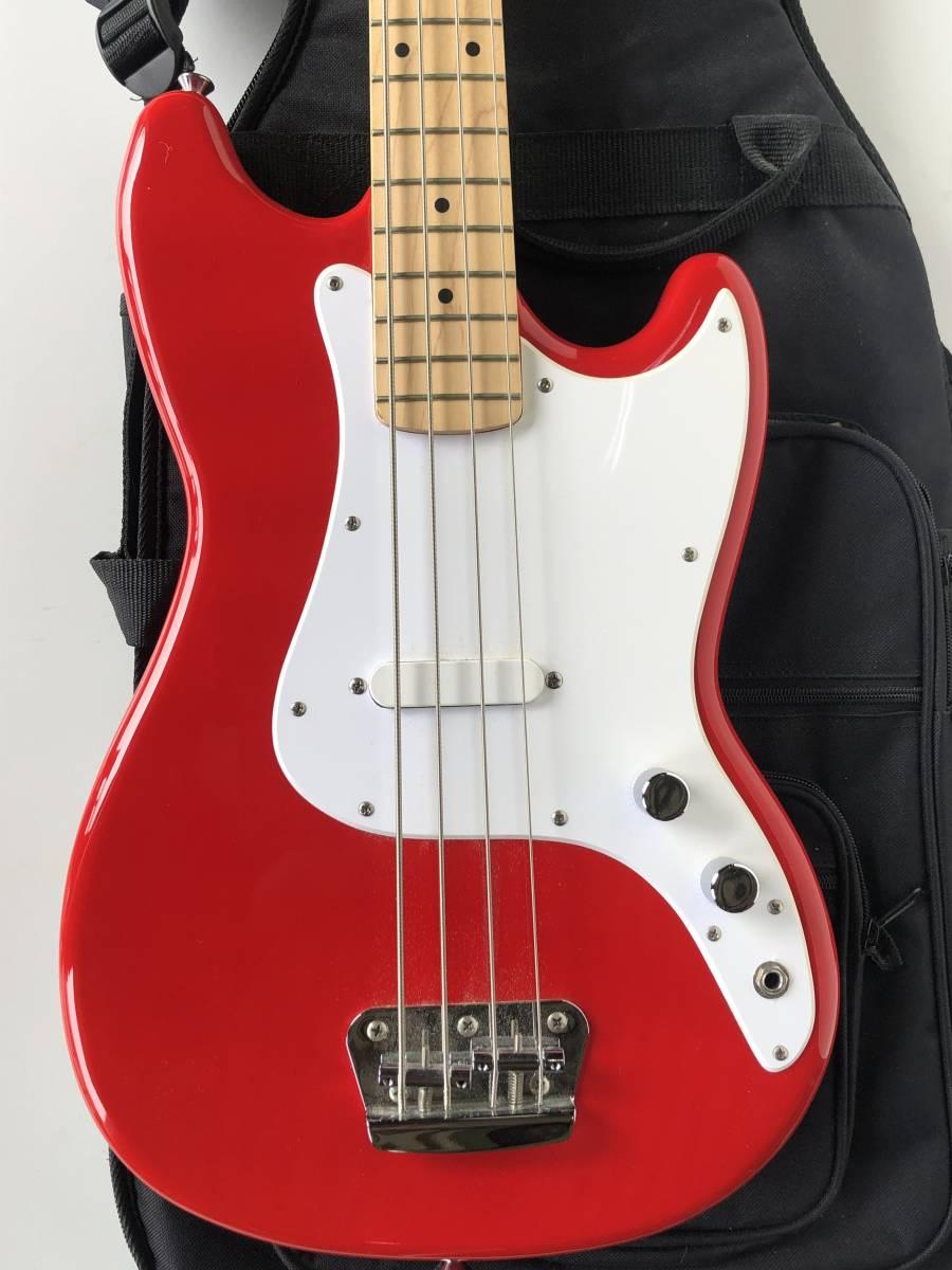 ◆Squier by Fender スクワイア フェンダー◆エレキベース BRONCO BASS ケース付 楽器 音楽機材_画像2