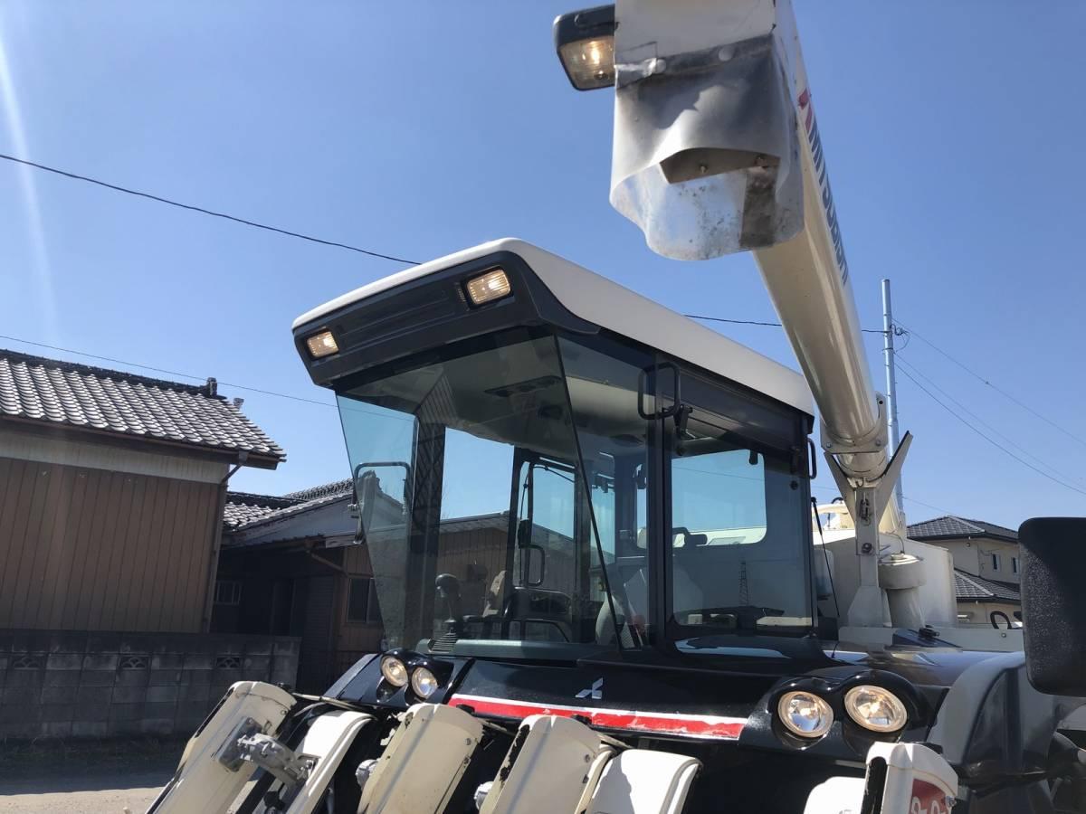 三菱 コンバイン 5条刈 VG563 美品 エアコンキャビン付き 2012年式 63馬力 スライドドア 整備点検済 栃木県_画像4