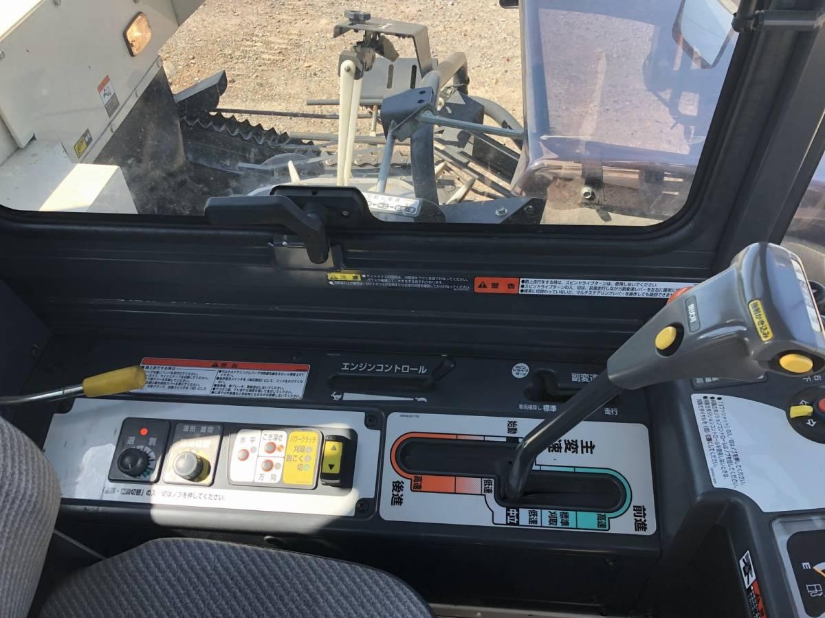 三菱 コンバイン 5条刈 VG563 美品 エアコンキャビン付き 2012年式 63馬力 スライドドア 整備点検済 栃木県_画像9