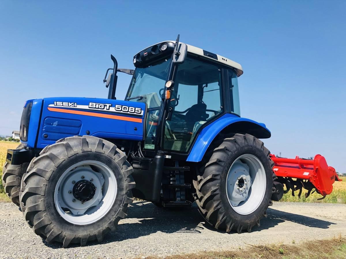 イセキ BigT 5085 トラクター 4WD エアコンキャビン 85馬力 新品タイヤ 外部油圧取り出し2系統