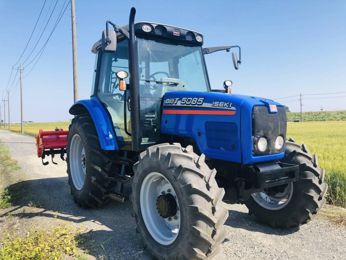 イセキ BigT 5085 トラクター 4WD エアコンキャビン 85馬力 新品タイヤ 外部油圧取り出し2系統_画像2
