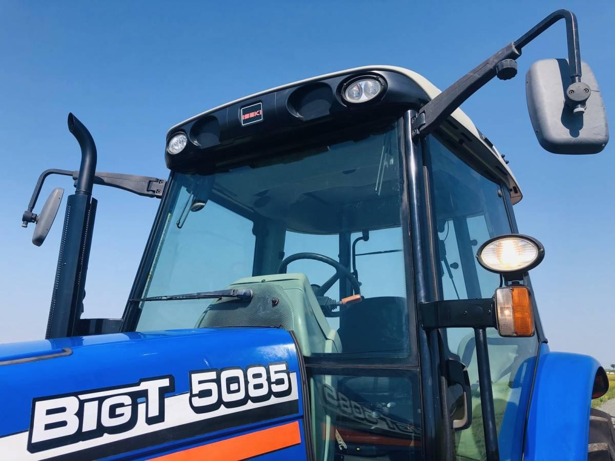 イセキ BigT 5085 トラクター 4WD エアコンキャビン 85馬力 新品タイヤ 外部油圧取り出し2系統_画像6