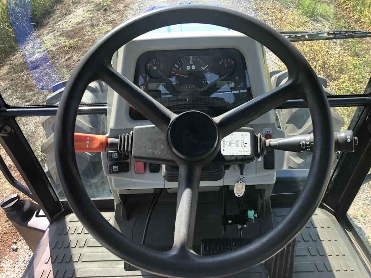 イセキ BigT 5085 トラクター 4WD エアコンキャビン 85馬力 新品タイヤ 外部油圧取り出し2系統_画像9