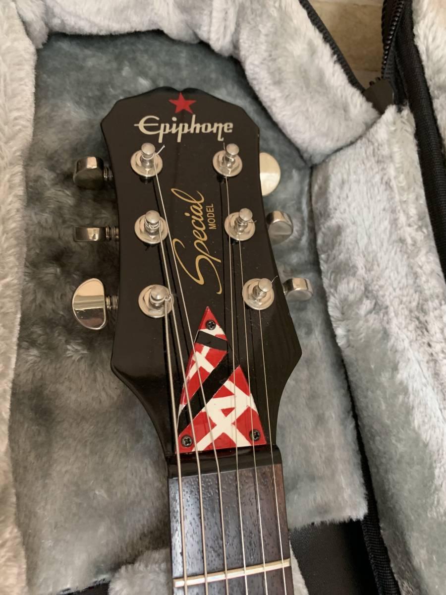1円スタート) Epiphone Gibson Les Paul EVH風 ヴァンヘイレン風 VAN HALEN風 レスポール Special スペシャル エピフォン ギブゾン 着払い_画像5