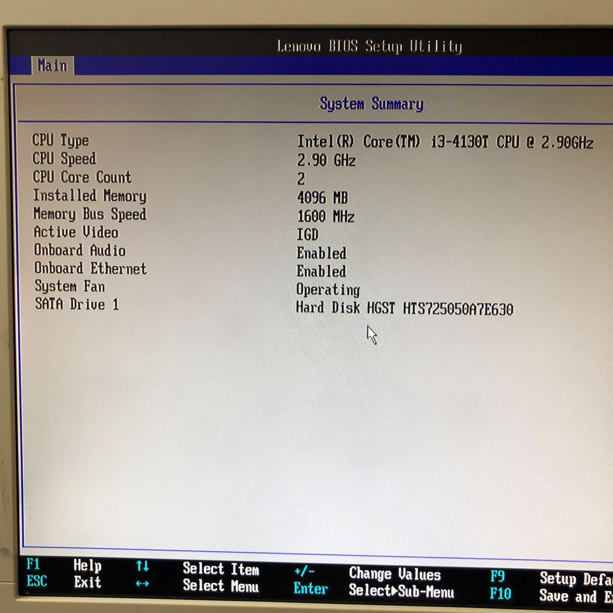 美品 Lenovo ThinkCentre M73 10AX-004UJP Intel Core i3-4130T 2.90GHz DDR3 4GB 500GB HDD搭載 壁掛け金具付き 2014年製 Windows8 現状品_画像3