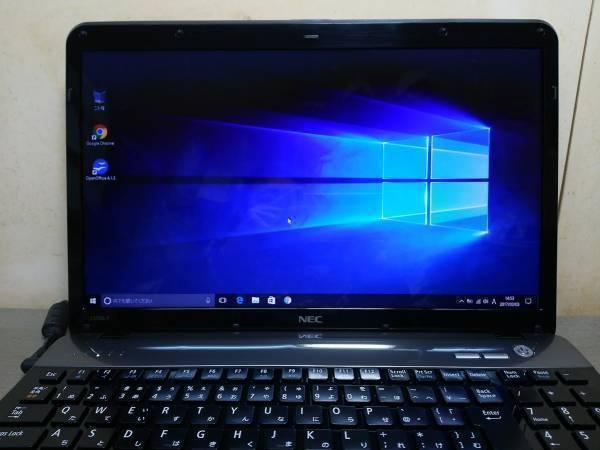 【F53】★超速 Core i7 搭載★メモリ6GB★LS550/F ブラック/Windows 10 搭載/新品キーボード 美品!_画像2