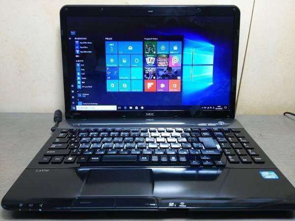【F53】★超速 Core i7 搭載★メモリ6GB★LS550/F ブラック/Windows 10 搭載/新品キーボード 美品!