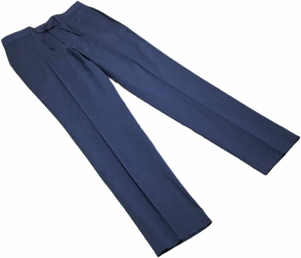 新品 MACKINTOSH LONDON シャンブレー ストレッチ イージー パンツ 40 (80-86) ネイビー マッキントッシュロンドン 軽量で清涼感のある一本_画像2