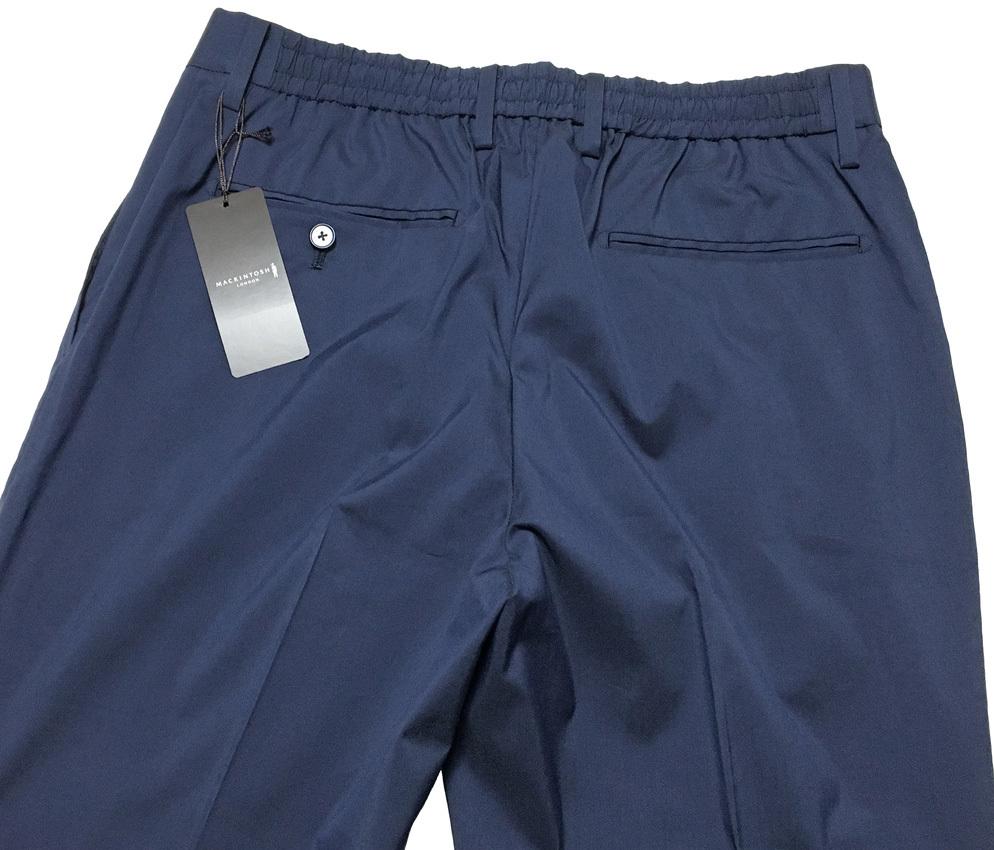 新品 MACKINTOSH LONDON シャンブレー ストレッチ イージー パンツ 40 (80-86) ネイビー マッキントッシュロンドン 軽量で清涼感のある一本_画像5