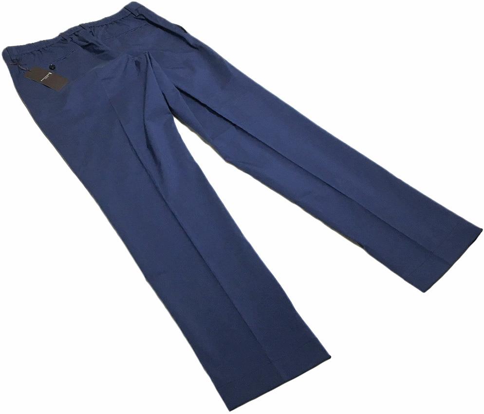新品 MACKINTOSH LONDON シャンブレー ストレッチ イージー パンツ 40 (80-86) ネイビー マッキントッシュロンドン 軽量で清涼感のある一本_画像3