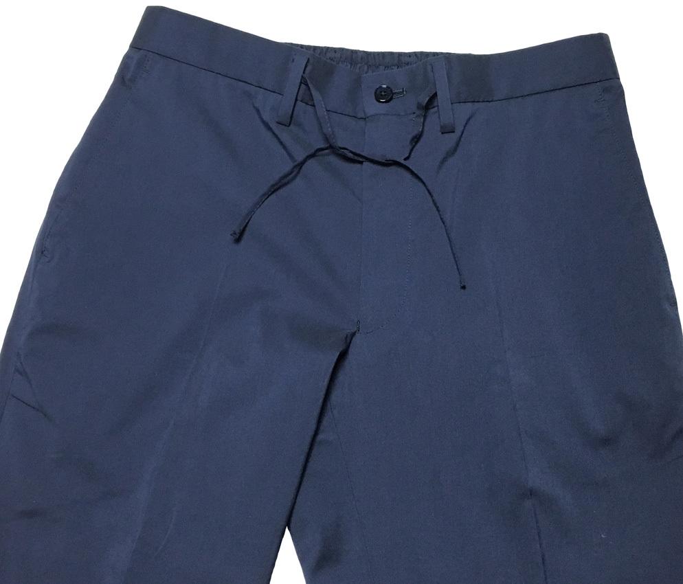 新品 MACKINTOSH LONDON シャンブレー ストレッチ イージー パンツ 40 (80-86) ネイビー マッキントッシュロンドン 軽量で清涼感のある一本_画像4