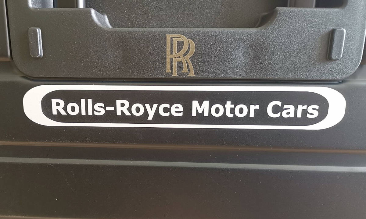 再入荷・在庫僅か※最高峰・38万※ロールスロイス/Rolls-Royce※純正オールアルミ・マグネシウム合金製・スーツケース/キャリーケース・黒_画像9
