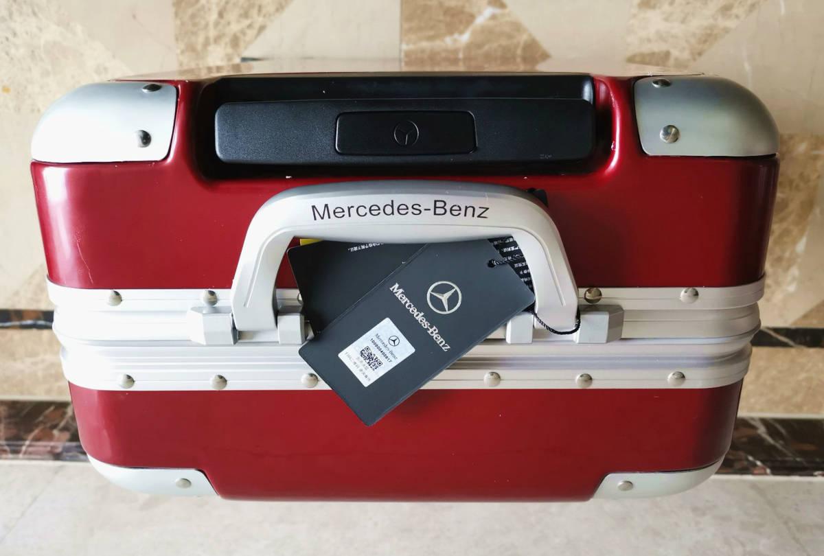 最高級※定価12万※メルセデス・ベンツ/Mercedes-Benz アルミフレーム・軽量/静音・オリジナル・スーツケース・キャリーケース・赤_画像8