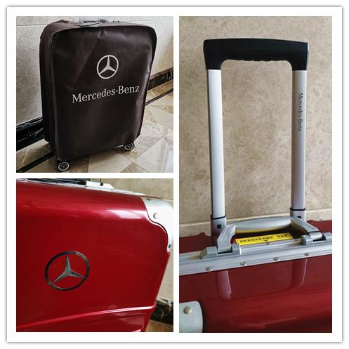 最高級※定価12万※メルセデス・ベンツ/Mercedes-Benz アルミフレーム・軽量/静音・オリジナル・スーツケース・キャリーケース・赤_画像10