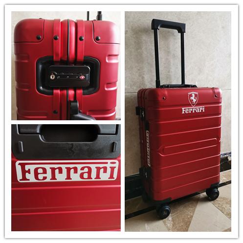 最高峰・定価30万※Ferrari・オールアルミ・マグネシウム合金・スーツケース/キャリーケース・フェラーリF1チーム用装備_画像10