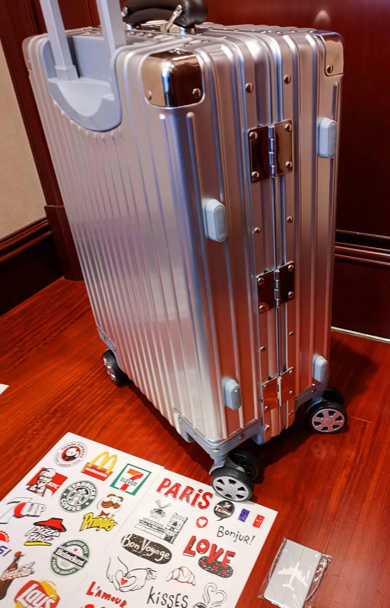 最上級※EU基準※オールアルミマグネシウム合金製・軽量/静音・TSAロック搭載スーツケース・キャリーケース※限定ステッカー5枚付_画像8