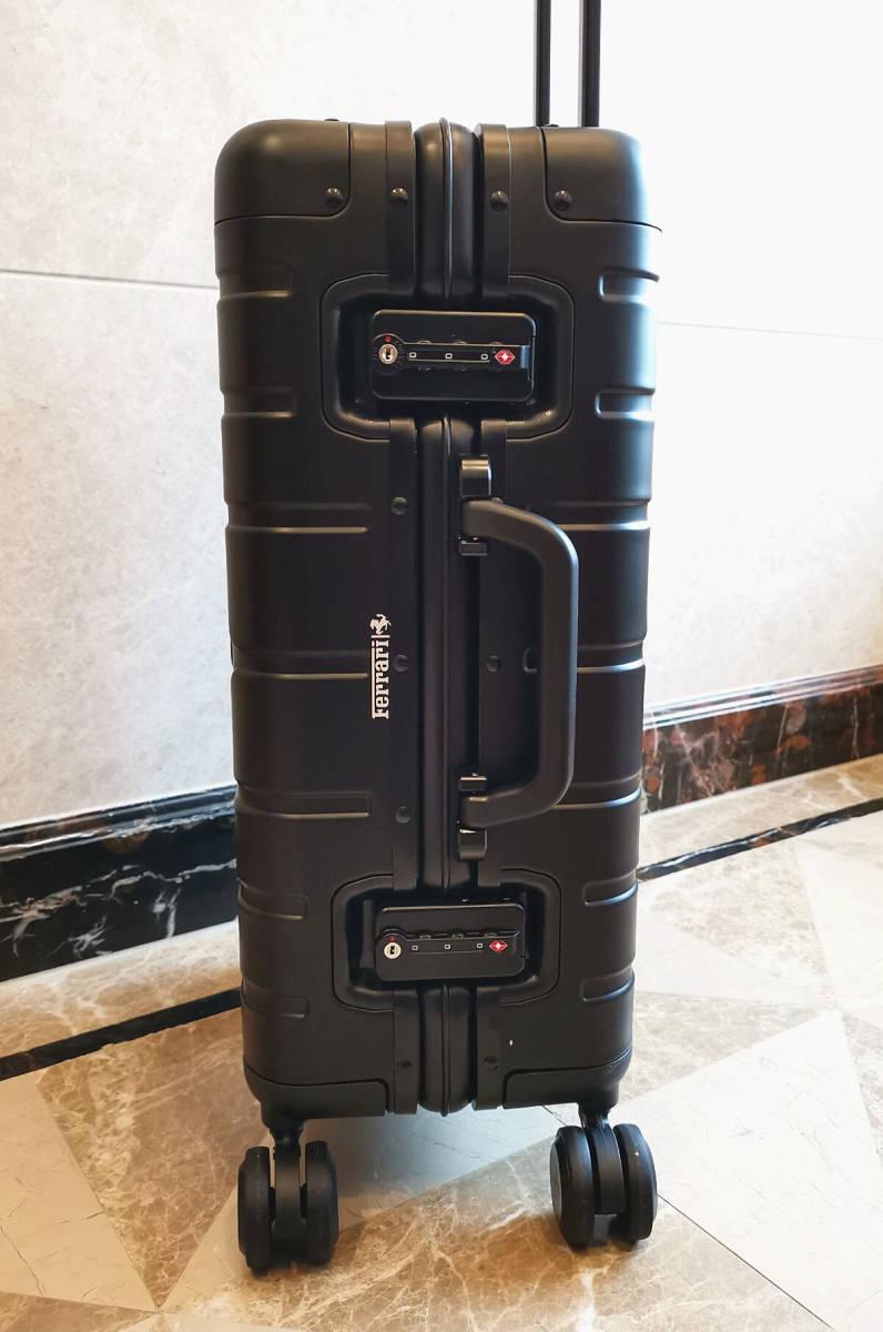 最高峰※貴重品・30万※Ferrari・純正オールアルミ・マグネシウム合金・スーツケース/キャリーケース/黒・フェラーリF1チーム用装備_画像8