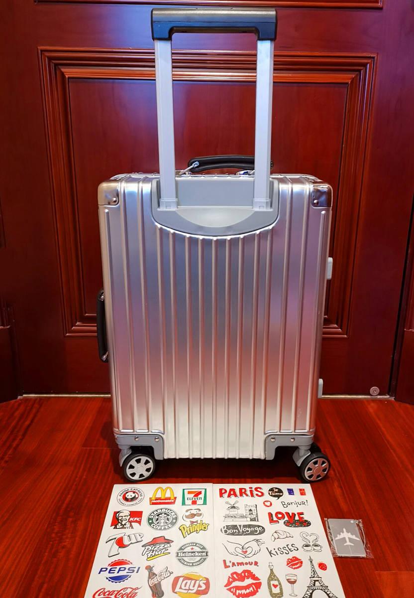 最上級※EU基準※オールアルミマグネシウム合金製・軽量/静音・TSAロック搭載スーツケース・キャリーケース※限定ステッカー5枚付_画像6