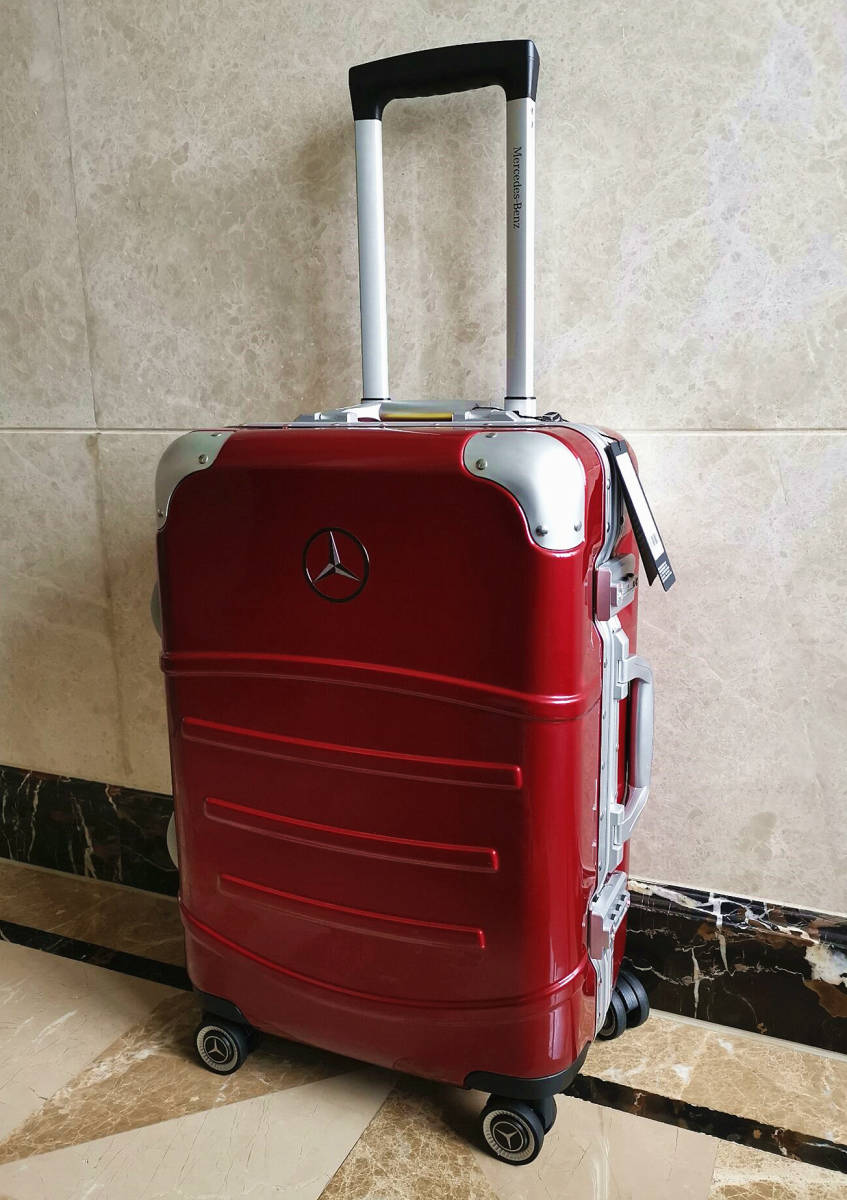 最高級※定価12万※メルセデス・ベンツ/Mercedes-Benz アルミフレーム・軽量/静音・オリジナル・スーツケース・キャリーケース・赤