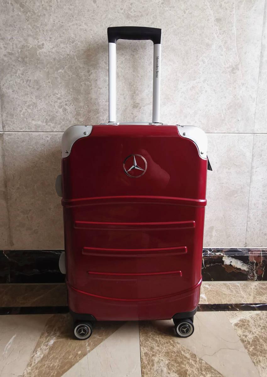 最高級※定価12万※メルセデス・ベンツ/Mercedes-Benz アルミフレーム・軽量/静音・オリジナル・スーツケース・キャリーケース・赤_画像3