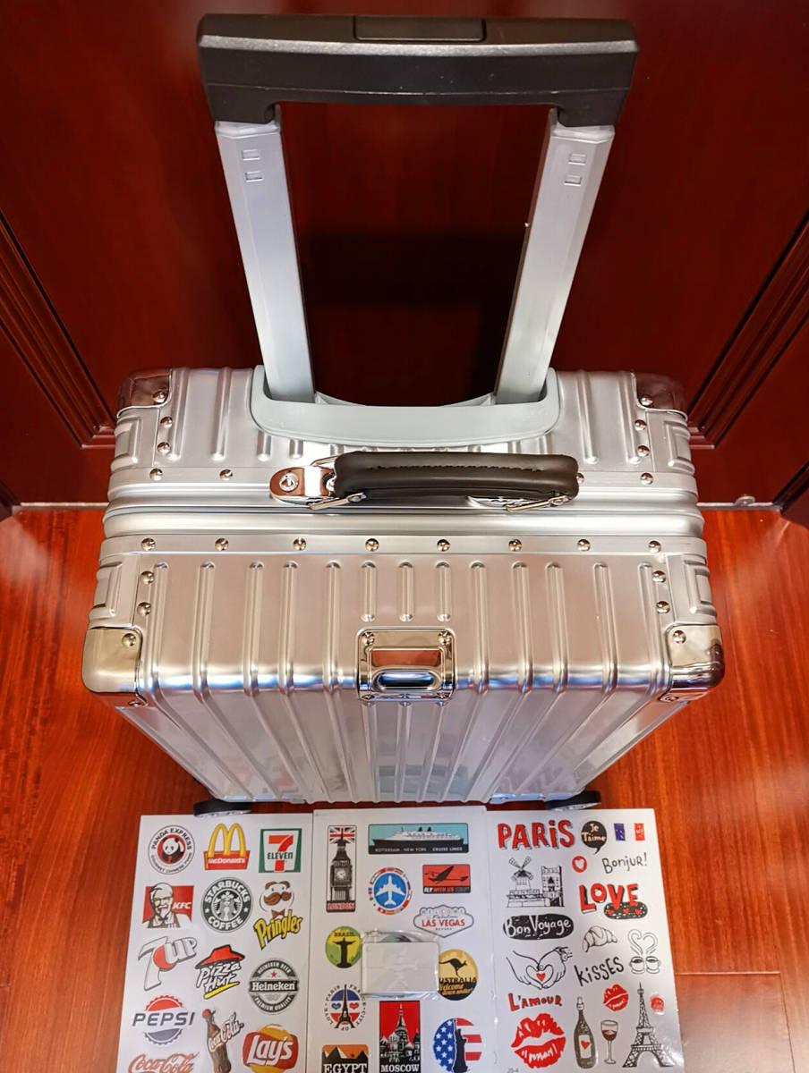 最上級※EU基準※オールアルミマグネシウム合金製・軽量/静音・TSAロック搭載スーツケース・キャリーケース※限定ステッカー5枚付_画像2
