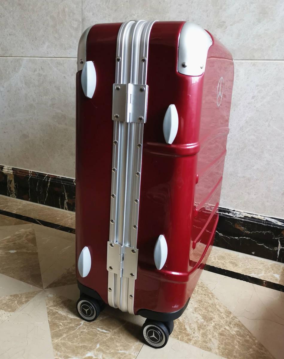 最高級※定価12万※メルセデス・ベンツ/Mercedes-Benz アルミフレーム・軽量/静音・オリジナル・スーツケース・キャリーケース・赤_画像7