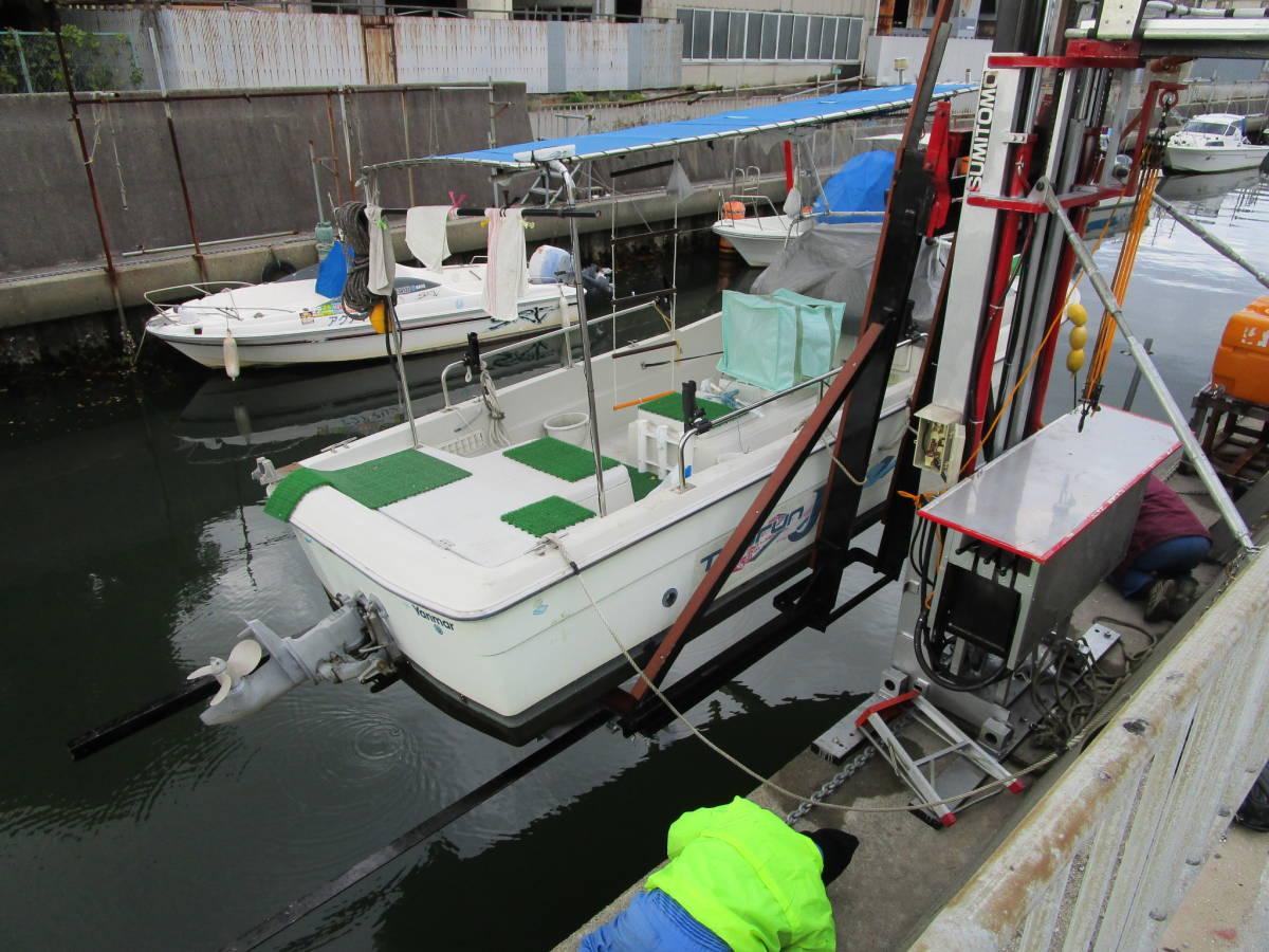 ボート昇降装置、完全ワンオフ、電動油圧リフター、ソーラー充電式、お引き取り限定、多用途リフター、使用期間3か月_画像5