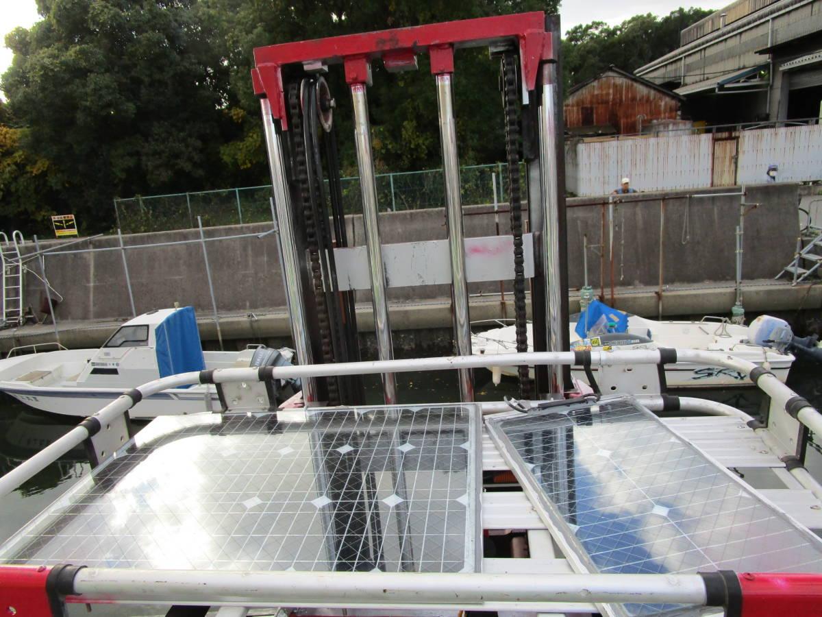 ボート昇降装置、完全ワンオフ、電動油圧リフター、ソーラー充電式、お引き取り限定、多用途リフター、使用期間3か月_画像9
