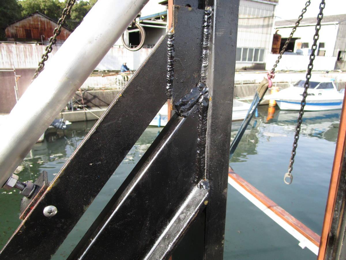 ボート昇降装置、完全ワンオフ、電動油圧リフター、ソーラー充電式、お引き取り限定、多用途リフター、使用期間3か月_画像7