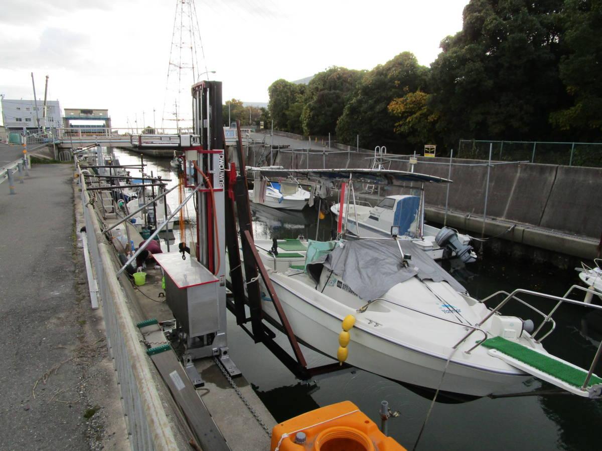 ボート昇降装置、完全ワンオフ、電動油圧リフター、ソーラー充電式、お引き取り限定、多用途リフター、使用期間3か月