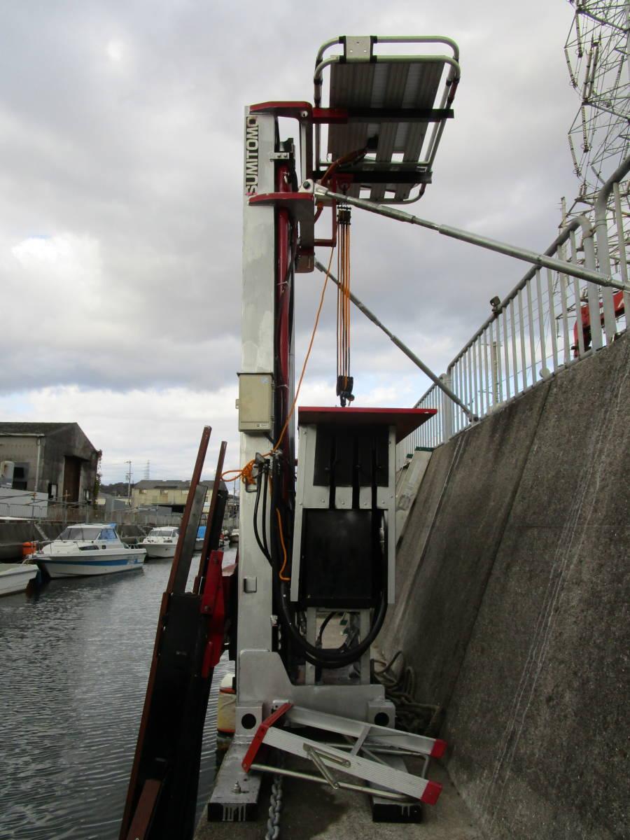 ボート昇降装置、完全ワンオフ、電動油圧リフター、ソーラー充電式、お引き取り限定、多用途リフター、使用期間3か月_画像2