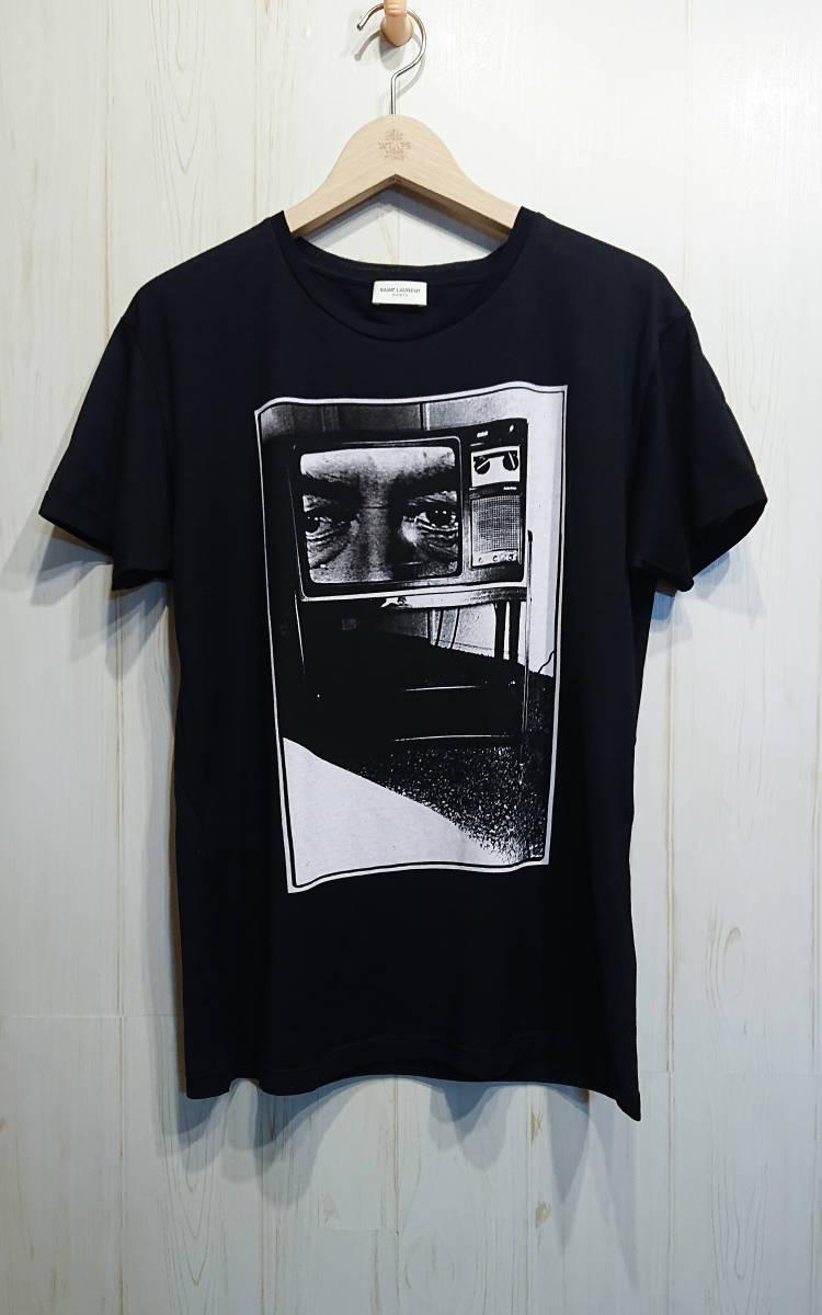 SAINT LOURENT PARIS サンローランパリ エディ期 TV Tシャツ ルーズシルエット エディスリマン イタリア製 国内正規品