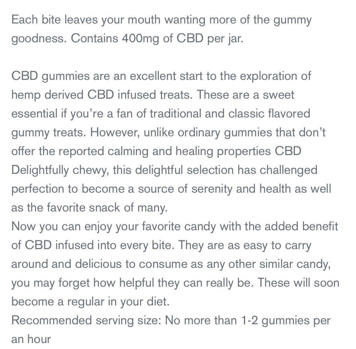 CBD 配合 フルーツ味 CBD400mg 高濃度 高品質 CBDoil ヘンプ remedy candy グミ 健康食品 オイル アメリカお菓子 元気 送料無料_画像4