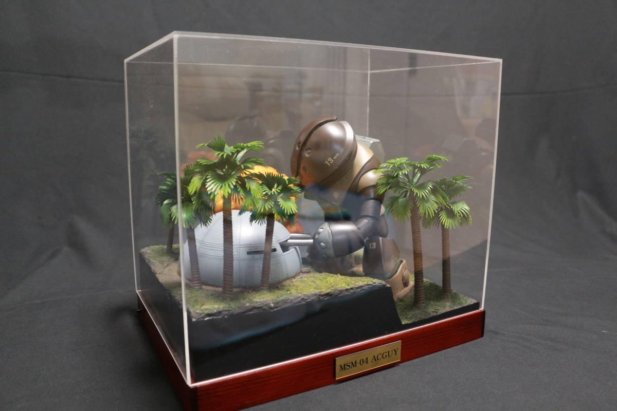 ◆アッガイ 自作電飾ジオラマ完成品 1/100アクリルケース付(ファーストガンダム)_画像10