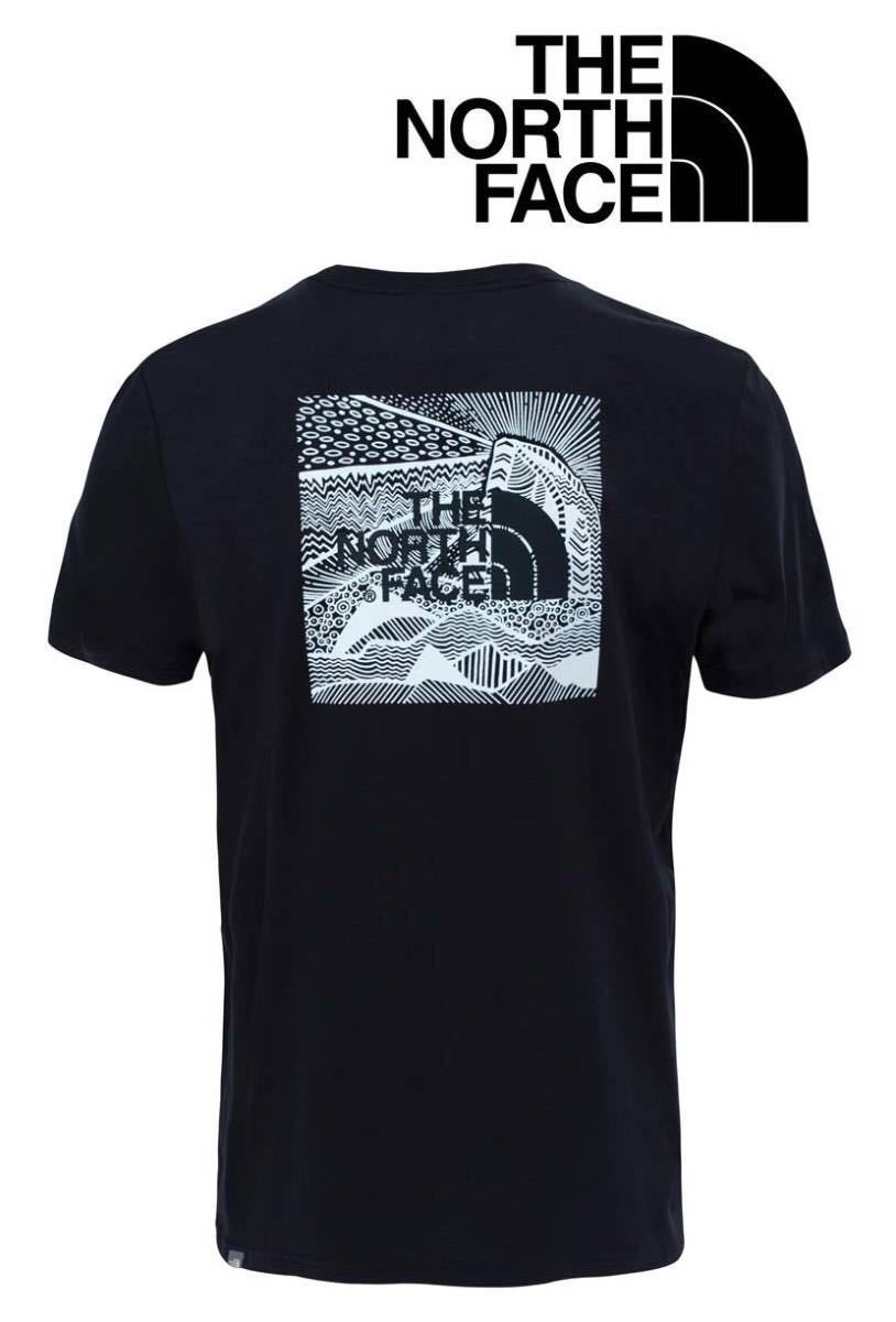 1円~新品正規品☆The North Face T-shirt☆ノースフェイスTシャツ☆THE NORTH FACE Redbox Celebration☆TNF BLACK/WHITE☆XLサイズ