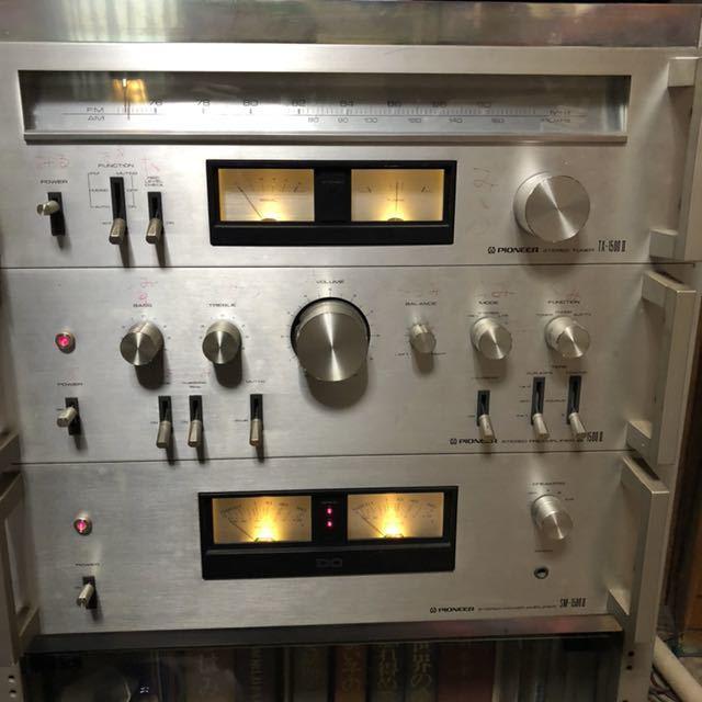 パイオニア SC-1500Ⅱステレオプリアンプ TX-1500Ⅱチューナー SM-1500Ⅱパワーアンプ CT-720カセットデッキ PL-340レコードプレーヤー_画像9