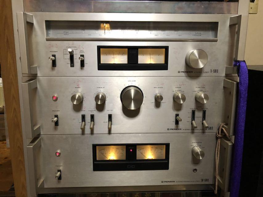 パイオニア SC-1500Ⅱステレオプリアンプ TX-1500Ⅱチューナー SM-1500Ⅱパワーアンプ CT-720カセットデッキ PL-340レコードプレーヤー