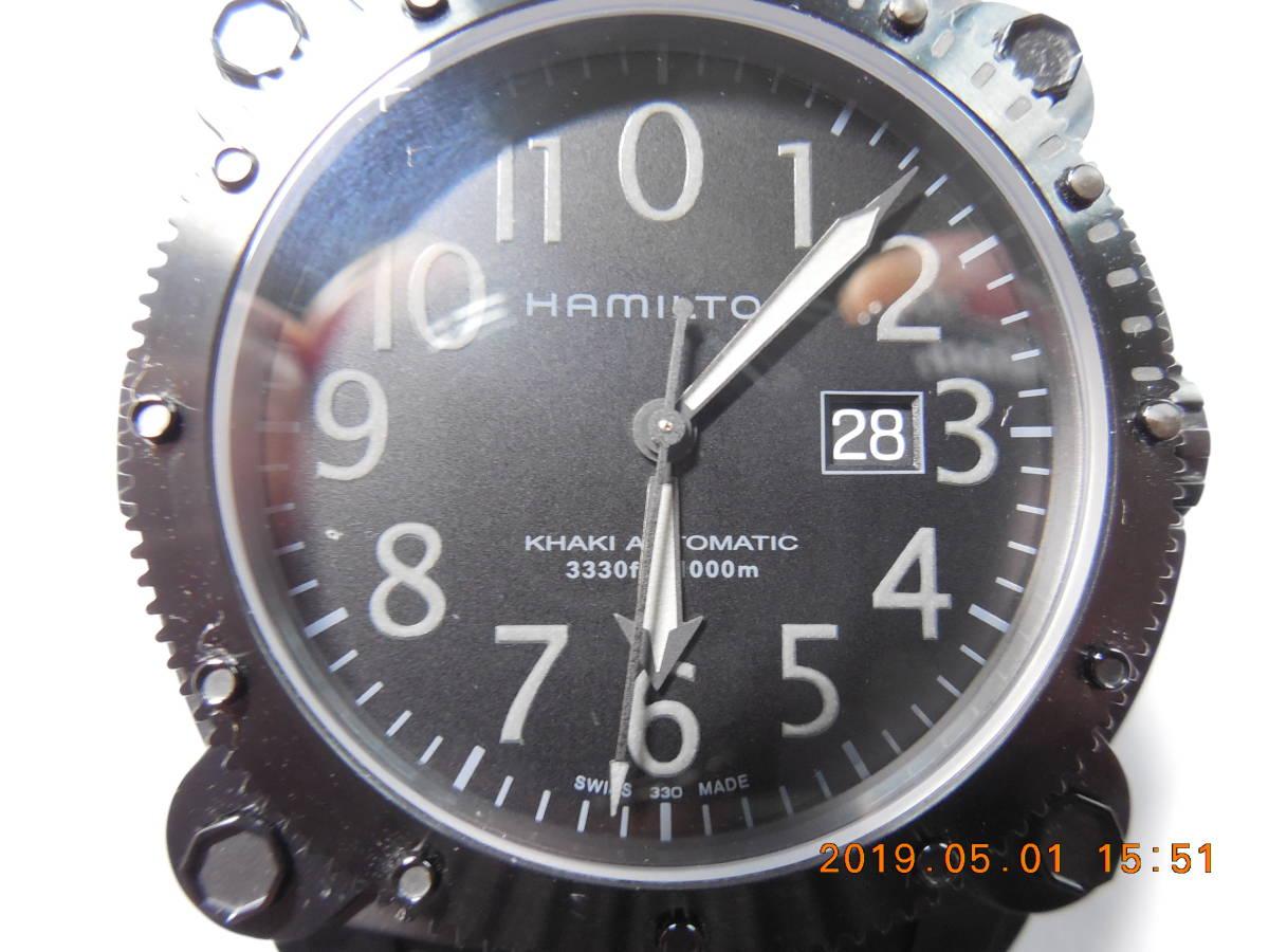 新品 未使用品 ハミルトン カーキビロウゼロ H78585333 1,000m(100気圧)防水_画像3