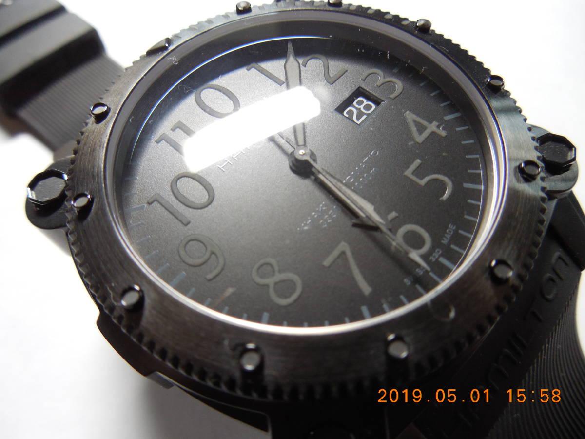 新品 未使用品 ハミルトン カーキビロウゼロ H78585333 1,000m(100気圧)防水_画像4